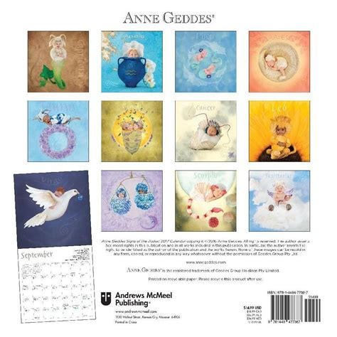 Anne Geddes Signs Of The Zodiac 2017 Calendar