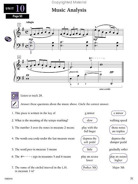 Answer Key Write Play And Hear Your Theory Every Day Book 1
