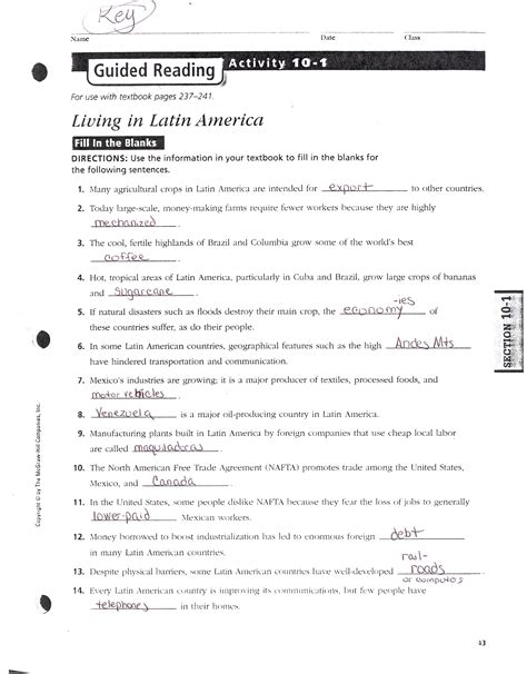 Answers To The American Republic Guided Activity