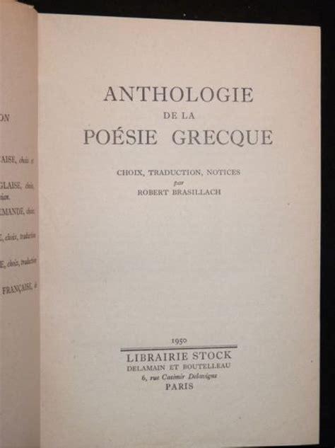 Anthologie De La Poesie Grecque