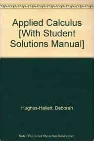 Applied Calculus 4th Edition Solutions Manual