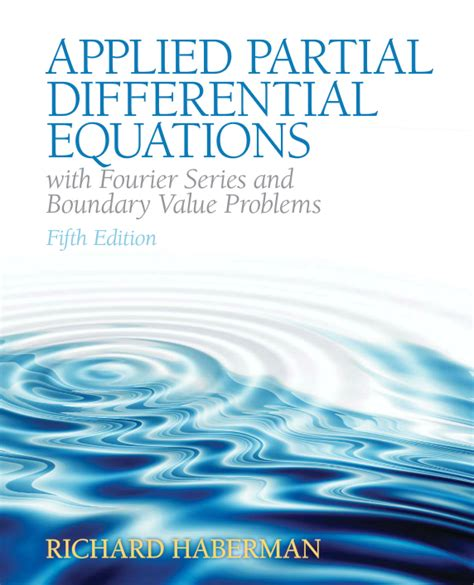 Applied Partial Differential Equations Haberman Solution Manual