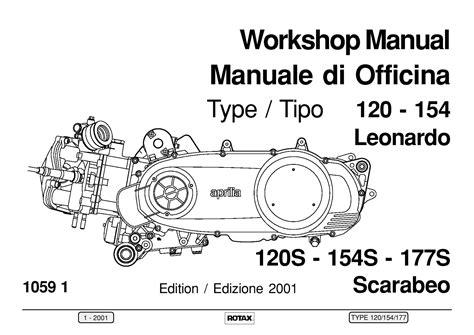 Aprilia 120 154 177 Rotax Engine Manual Book