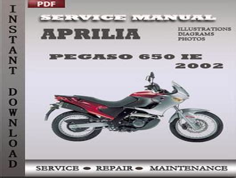 Aprilia Pegaso 650 Service Manual And Workshop Manual 2002