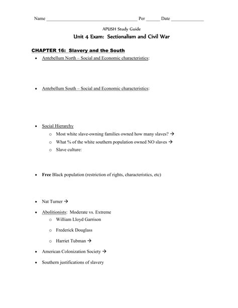 Apush Unit 5 Study Guide