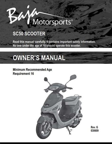Aragon Scooter Repair Manual