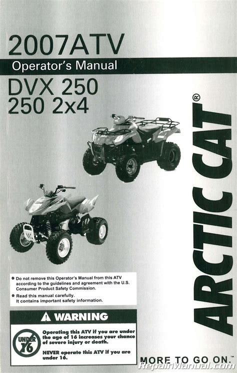 Arctic Cat 250 User Manual