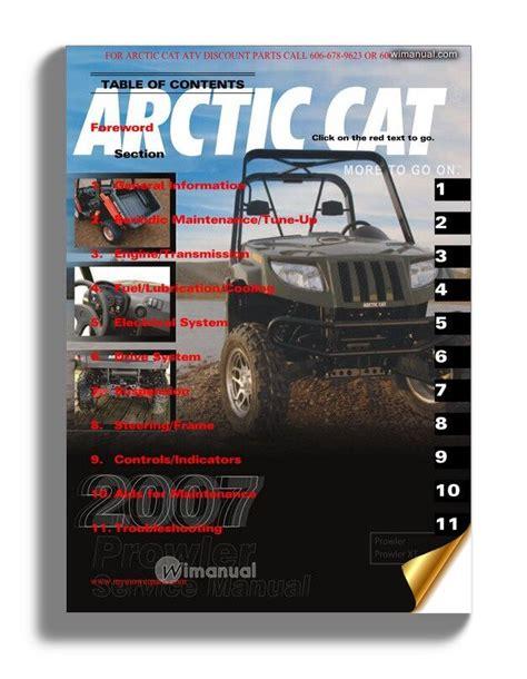 Arctic Cat Prowler Atv Service And Repair Manual 2007