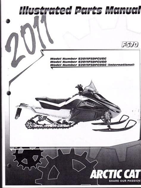 Arctic Cat Snowmobile F570 Parts Manual Catalog 2011