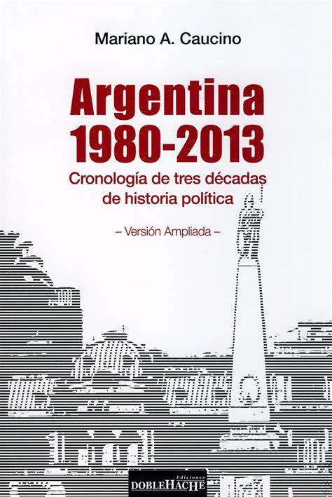 Argentina 1980-2013 : cronología de tres décadas de historia política