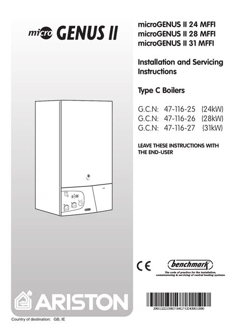 Ariston Microgenus He 24 32 Mffi Installation Manual