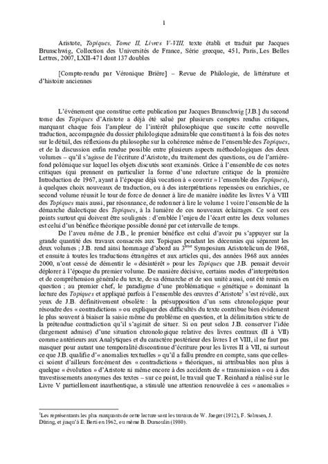 Aristote, Topiques, Tome II: Livres V-VIII