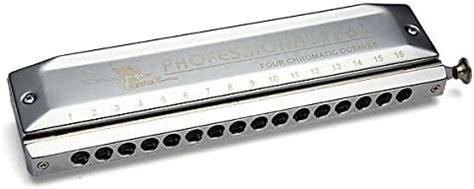 Armonica En Forma De Barco Con 16 Agujeros Y 64 Tonos Plateada Cromatica Instrumentos Musicales
