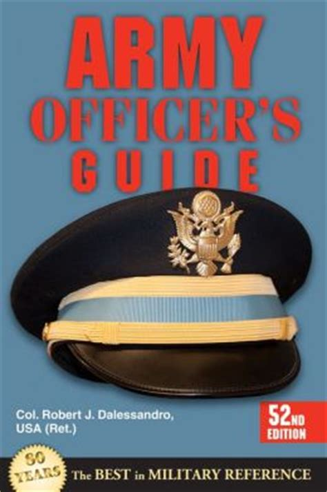 Army Officers Guide 52nd Edition By Dalessandro Robert J 2013 Paperback
