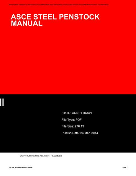 Asce Steel Penstock Design Manual