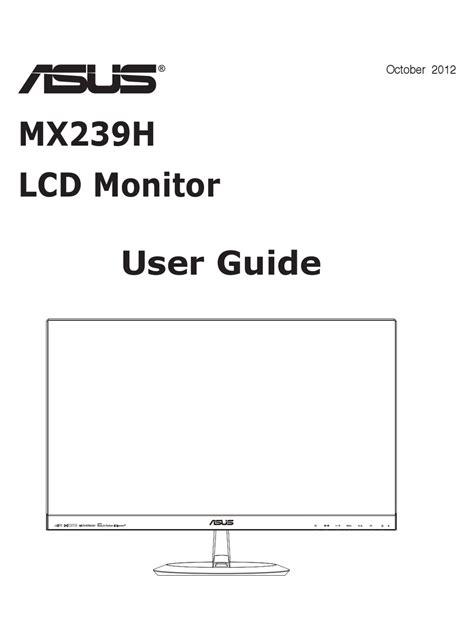 Asus Mx239h Manual
