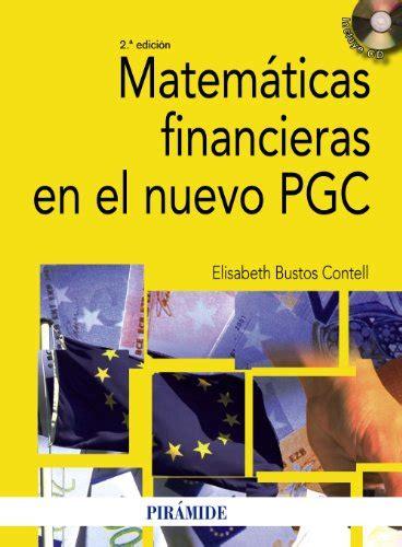 Atematicas Financier En El Nuevo Pgc Economia Y Empresa