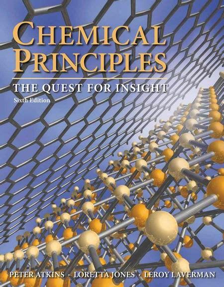 Atkins And Jones Chemical Principles Solution Manual