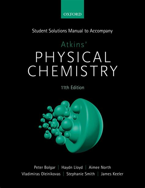 Atkins Physical Chemistry Solution Manual 9e