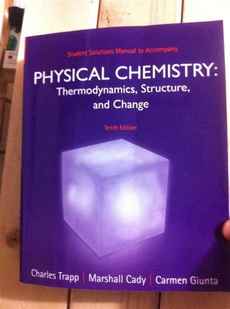Atkins Physical Chemistry Solutions Manual 10th Edition