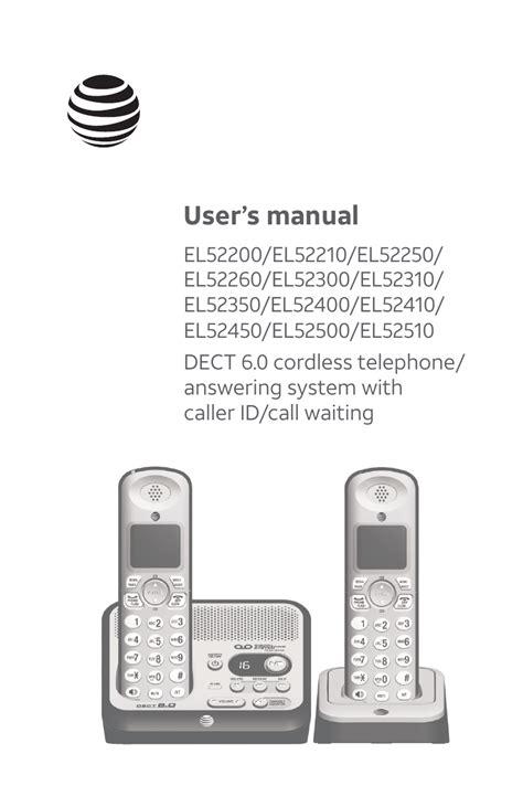 Att El52500 Manual
