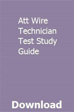 Att Wire Technician Tmtfii Test Study Guide