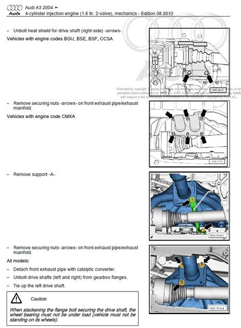Audi A3 Parts Manual