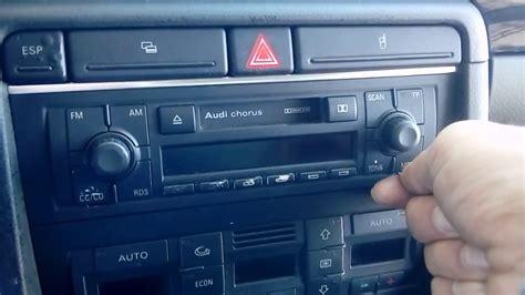 Audi A4 Radio Removal Manual