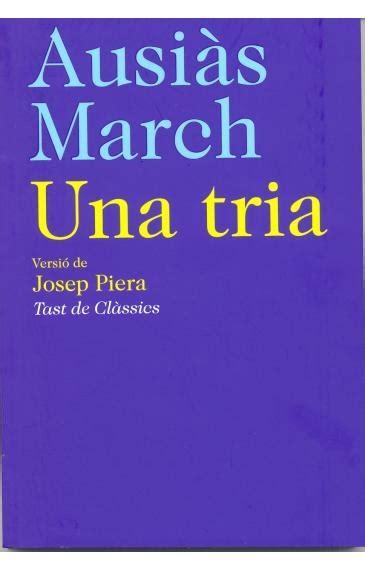 Ausias March Una Tria Catalan Edition