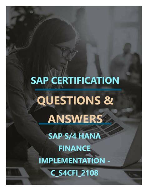 Authorized C-S4CFI-2108 Certification