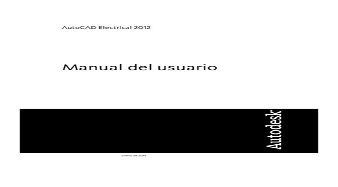 Autocad Electrical 2012 Manual