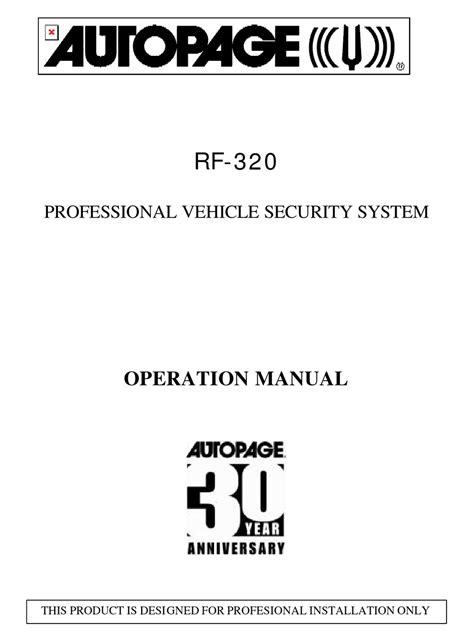 Autopage Rf 420 User Guide
