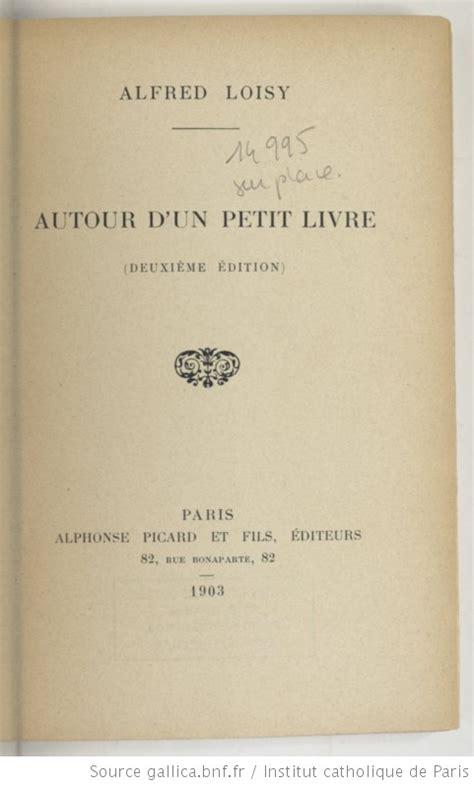 Autour Dun Petit Livre Classic Reprint