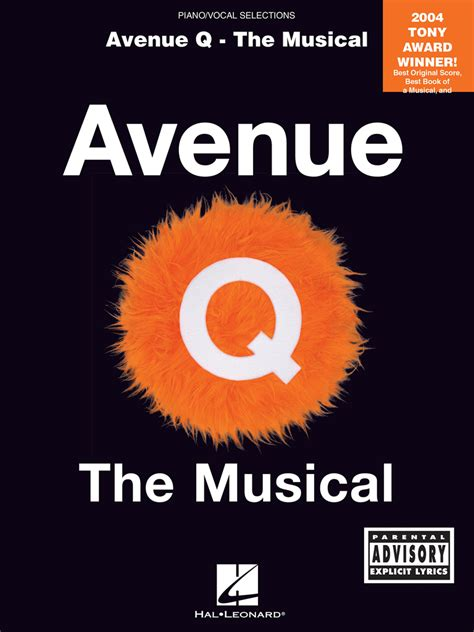 Avenue Q The Musical Piano Vocal Selections Piano Vocal Selections