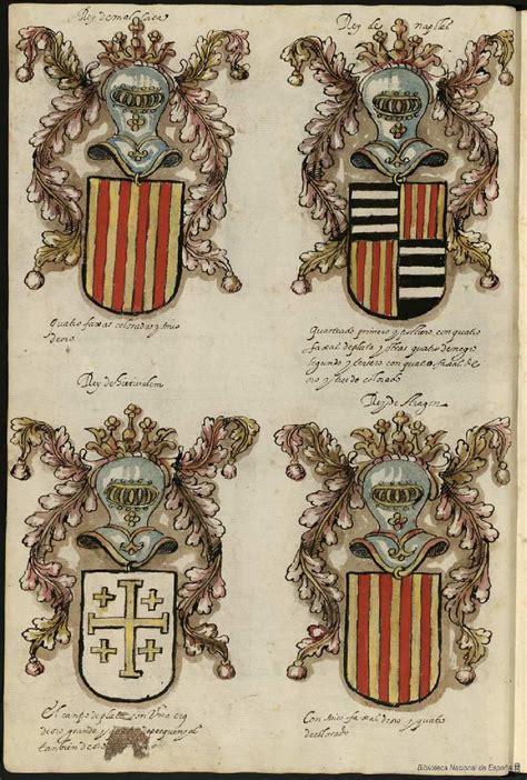 B01M5AR2FN Libro De Armas Y Blasones De Diversos Linajes Y Retratos Manuscrito