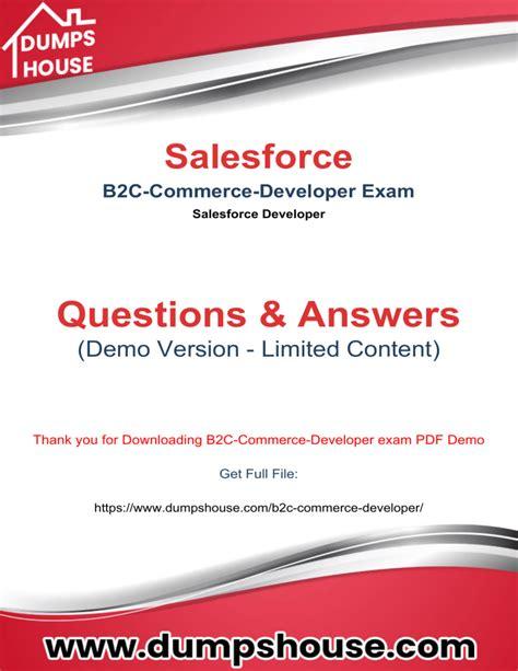 B2B-Commerce-Developer Free Brain Dumps