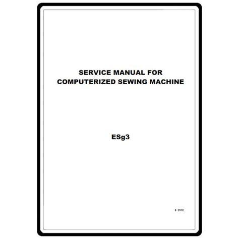 Babylock Ellageo Service Manual