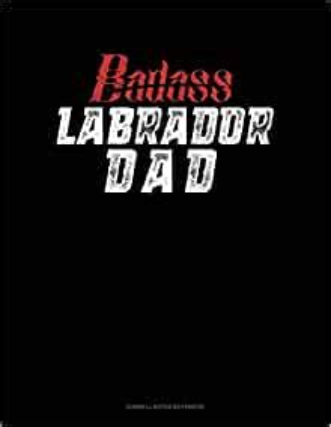 Badass Labrador Daddy Cornell Notes Notebook