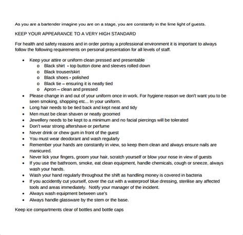 Bar Staff Operation Manuals