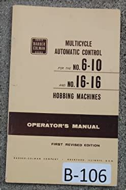 Barber Colman Microzone Operator Manual
