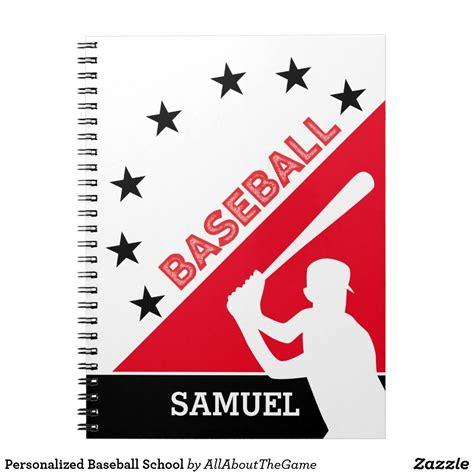 Baseball Journal 34 Baseball Notebook Number And Letter Monogram Personalized Gift