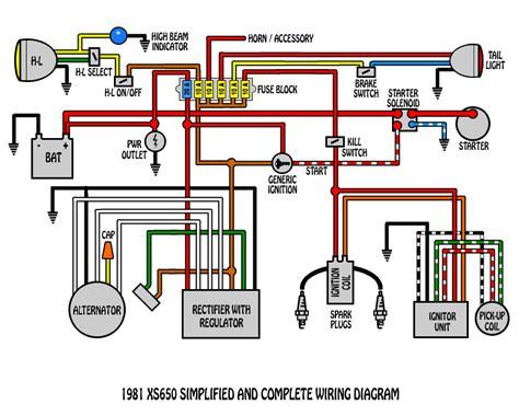 Basic Xs650 Headlight Wiring Diagram