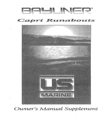 Bayliner Owners Manual