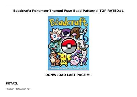 Beadcraft Pokemon Themed Fuse Bead Patterns English Edition