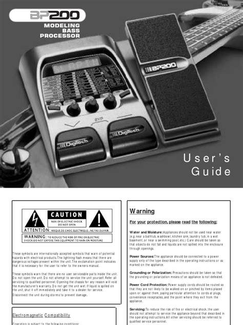 Bear Bp200 Service Manual