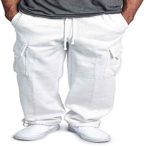 Beautyjourney Pantalones De Chandal Elasticos Para Hombre Leggings Deportivos De Color Solido Pantalones Sueltos Casuales Con Cordon
