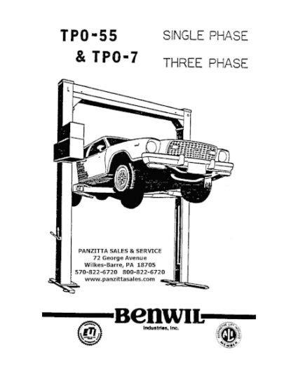 Benwil Tpo 7 Manual
