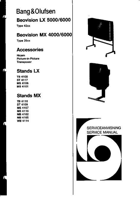 Beovision Lx 5000 6000 Mx4000 6000 Service Manual