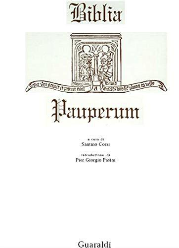 Biblia Pauperum Senso Religioso Italian Edition