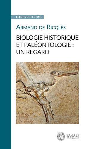 Biologie historique et paléontologie : un regard